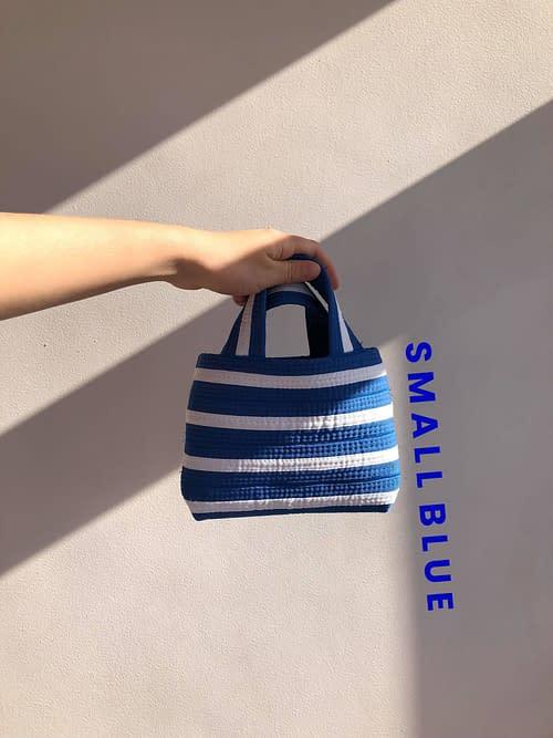SMALL BLUE STRIPED BAG